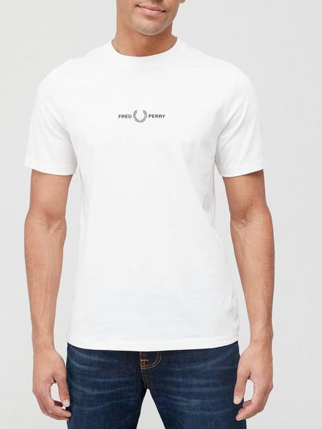 fred-perry-embroidered-logo-t-shirt-white