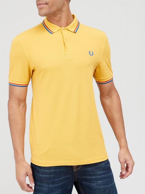 fred-perry-twin-tippednbsppolo-shirt-yellow