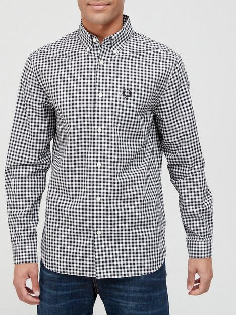 fred-perry-gingham-shirt-black