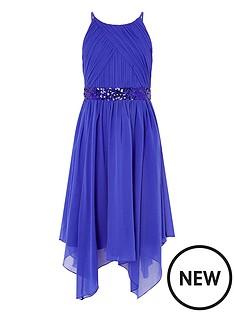 monsoon-girls-pleated-chiffon-hanky-hem-dress-blue