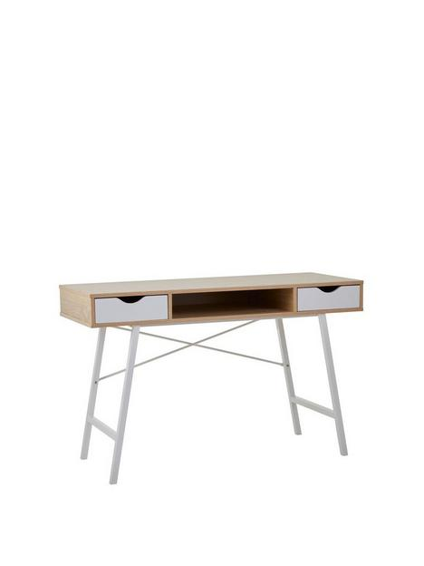 premier-housewares-bradbury-2-drawer-desk-oak