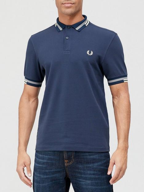 fred-perry-abstract-tipped-polo-shirt-blue