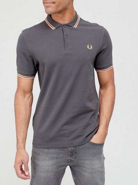 fred-perry-twin-tippednbsppolo-shirt-gunmetalnbsp
