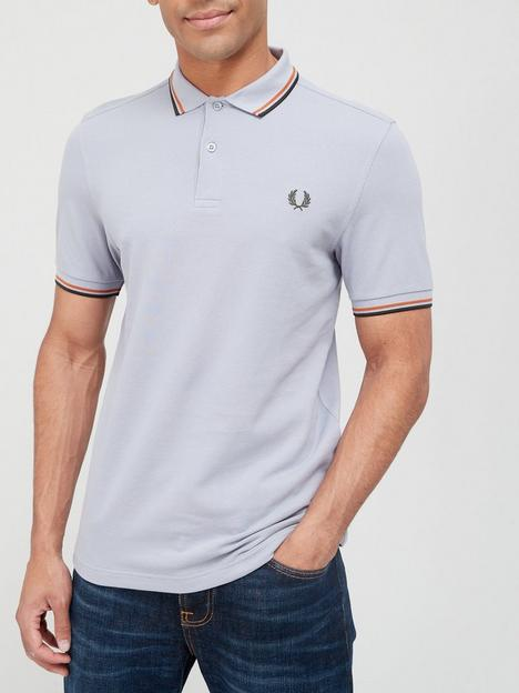 fred-perry-twin-tippednbsppolo-shirt-silver