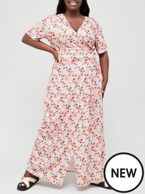 in-the-style-curve-in-the-style-curve-x-jac-jossanbspfloral-print-wrap-front-maxi-dress--nbsporangenbsp