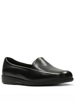 clarks-georgia-flat-shoe-black
