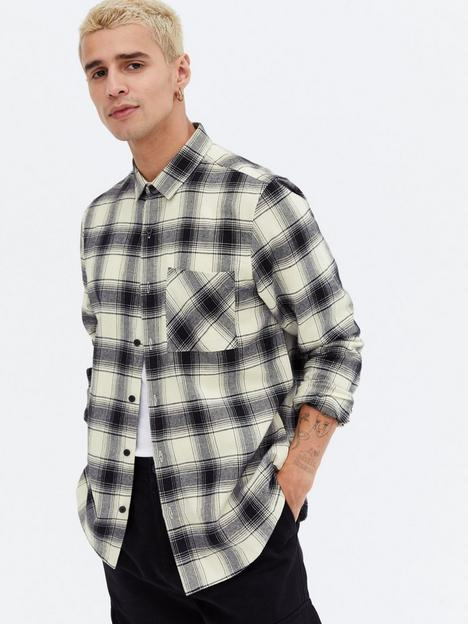 new-look-mens-long-sleevenbspcheck-shirt-white