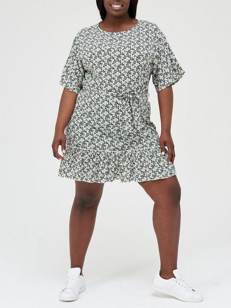ax-paris-curve-tiered-hem-mini-dress-floral-print