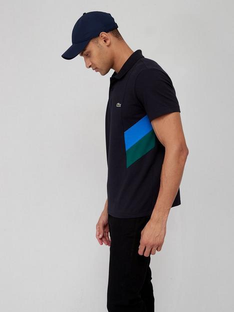 lacoste-colour-block-short-sleeve-polo-navy