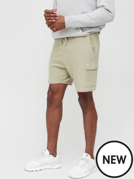 new-look-mens-twill-cargo-short-khaki