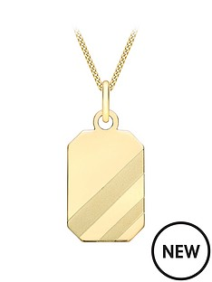 love-gold-9ct-yellow-gold-105mm-x-235mm-mens-octagonal-pendant
