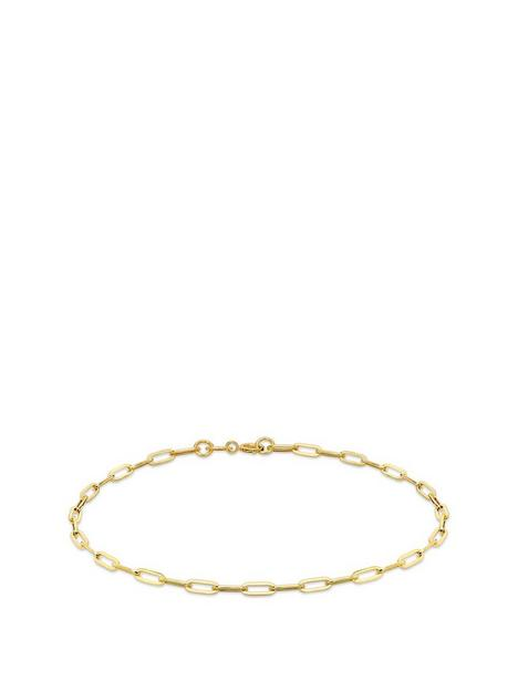 love-gold-9ct-gold-paper-chain-bracelet