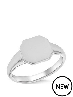 the-love-silver-collection-sterling-silver-rhodium-plated-10mm-x-10mm-octagon-signet-ring
