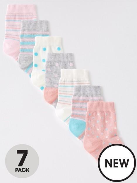 mini-v-by-very-girls-7-pack-spotstripe-socks