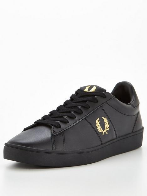 fred-perry-spencer-leather-trainers-black