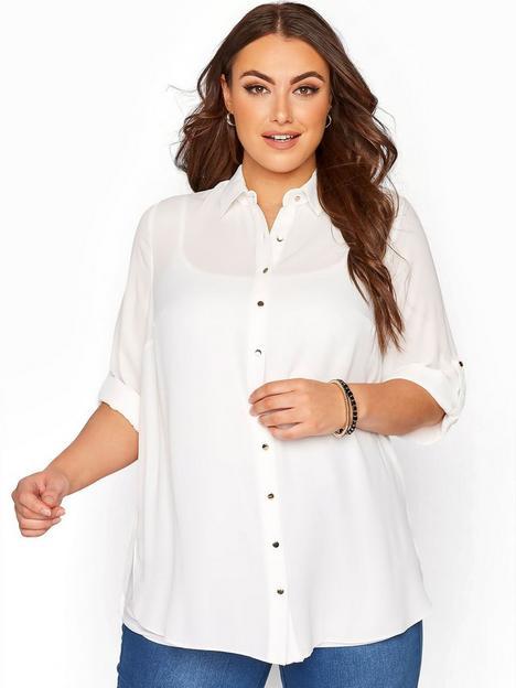 yours-basic-oversized-shirt-white