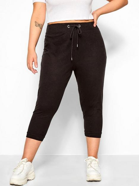 yours-crop-jogger-black