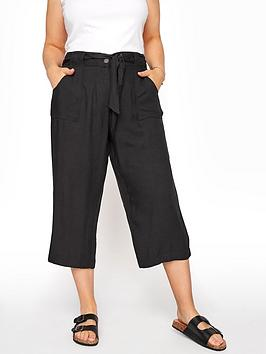 yours-vi-twill-belted-crop-black