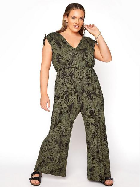 yours-yours-limited-jumpsuit-blackgreennbsp