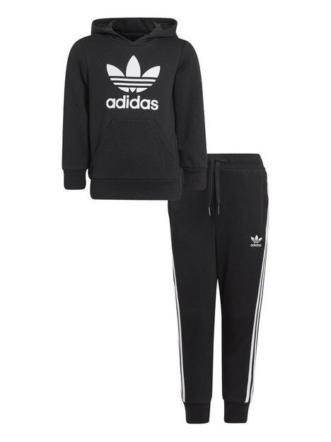 adidas-originals-kids-unisex-hoodie-set-blackwhite