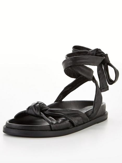 ted-baker-pilford-knotted-leather-flat-sandal-black