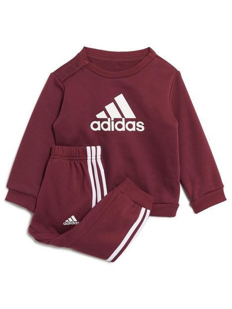adidas-adidas-infant-unisex-badge-of-sport-logo-crew-jog-pant-set