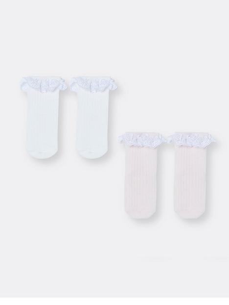 river-island-baby-baby-girls-2-pack-lace-frill-socks-pinkwhite