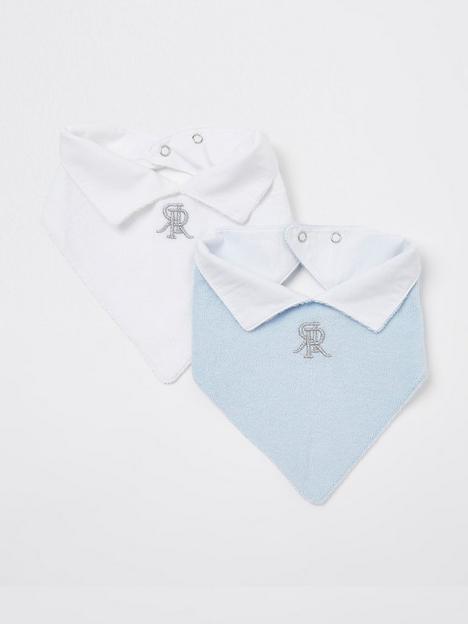 river-island-baby-baby-boys-2-pack-bibs-blue