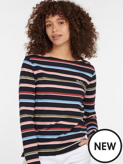 barbour-hawkins-100-cotton-stripe-jersey-top-navy