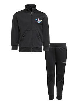 adidas-originals-kids-unisex-adicolornbsptracksuit-black
