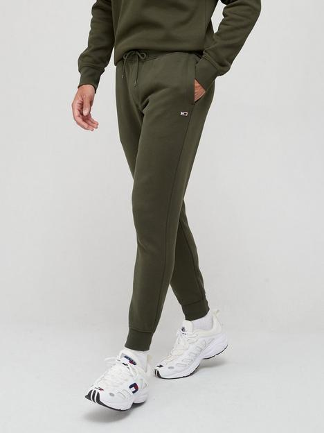 tommy-jeans-slim-fleece-joggers-dark-olive