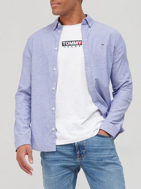 tommy-jeans-stretch-oxford-shirt-blue