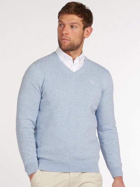 barbour-pima-cotton-v-neck-knit