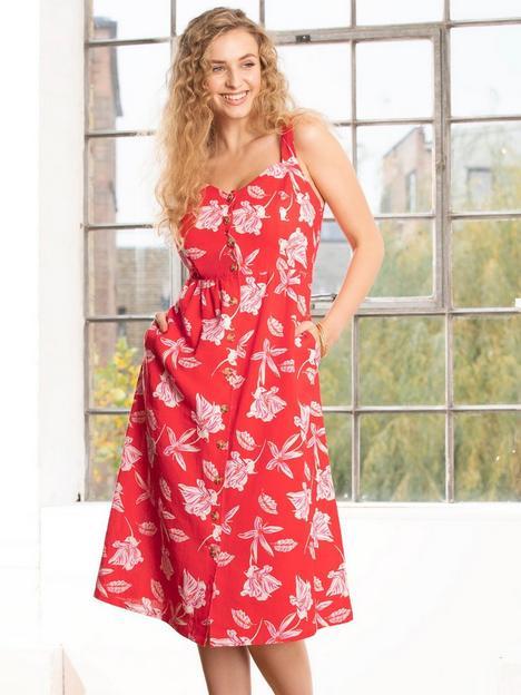 pour-moi-linen-blend-button-front-sun-dress-red-floral