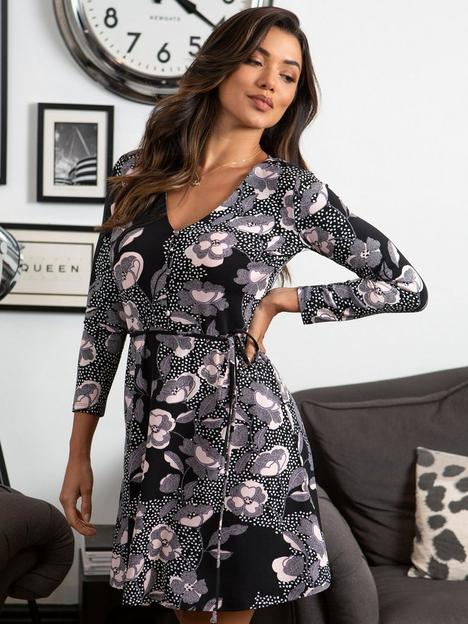 pour-moi-bella-slinky-recycled-jersey-long-sleeve-tea-dress-floral