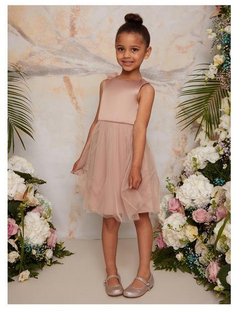 chi-chi-london-girls-3d-floral-tulle-skirt-flower-girl-dress-champagne