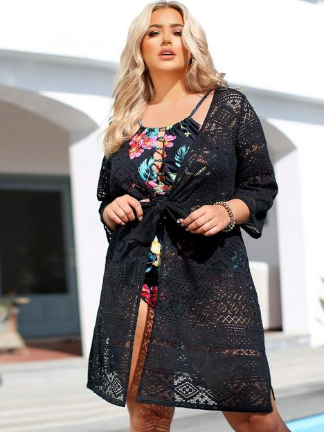 yours-yours-lace-tie-front-beachnbspcover-up-black