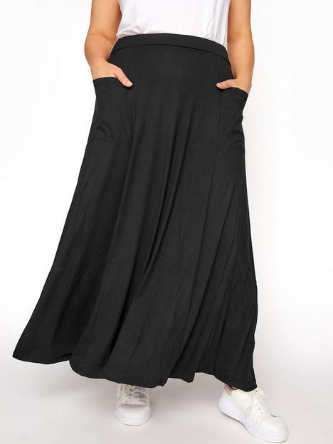 yours-38-pocket-maxi-skirt-black