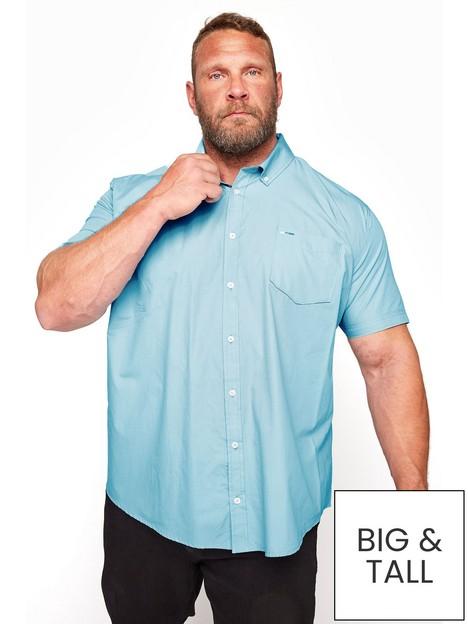 badrhino-essential-short-sleeve-oxford-shirt-blue