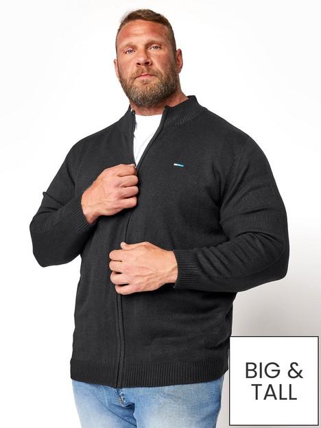 badrhino-essential-full-zip-knitwear-black