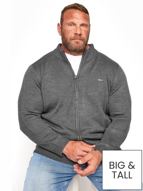 badrhino-essential-full-zip-knitwear-grey
