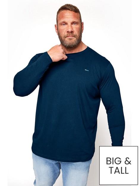 badrhino-essential-plain-long-sleeve-t-shirt-navy