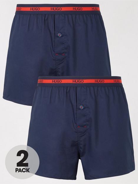 hugo-bodywear-2-pack-woven-boxers-navynbsp