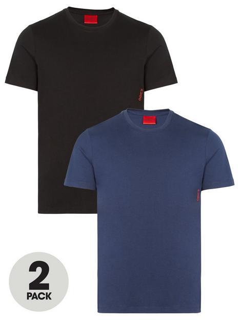 hugo-bodywear-2-pack-t-shirt-blueblack