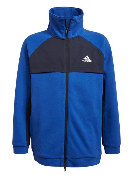 adidas-nbspjunior-boys-xfg-cover-up-track-top-blue-white