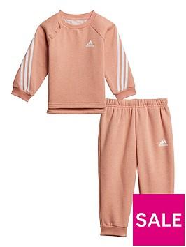 adidas-infant-unisex-3-stripe-crew-amp-jog-pant-set-pinkwhite