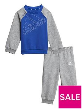 adidas-infants-outline-logo-crew-amp-jog-pant-set-greyblue
