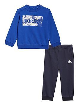 adidas-infant-unisex-linear-logo-crew-amp-jog-pant-set-bluenavy