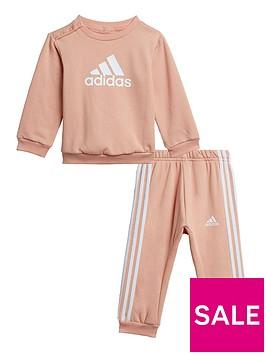 adidas-infant-girls-big-logo-crew-amp-jog-pant-set-pinkwhite