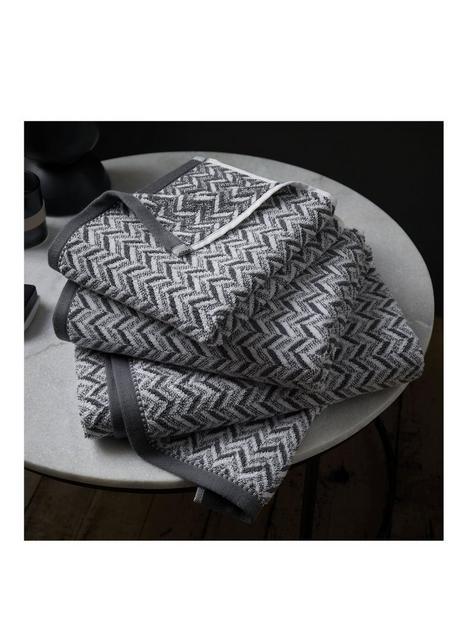 content-by-terence-conran-herringbone-bath-towel-grey